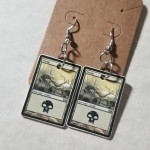 Jewelry - Magic the gathering earrings.  Waterproof plastic.